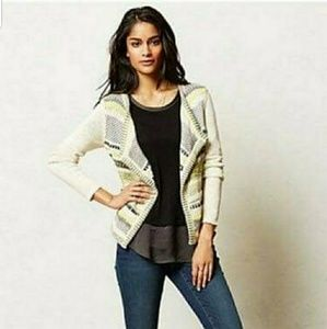 Moth Anthropologie Draped Pointelle Cardigan